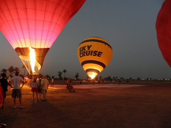 Hot-Air Balloons on the Luxor West Bank