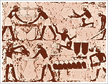 Beer-making on a wall painting in the tmb of Kenamon, about 1500 BC, Sheikh Abd el-Qurna, Luxor West Bank