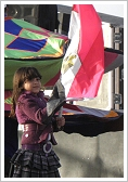 Flag waving child