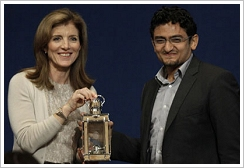Caroline Kennedy presents Wael Ghonim the John F. Kennedy Profiles in Courage Award