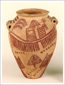 Pre-dynastic Egyptian vase, dating from 3,400 B.C., from the Steindorff collection
