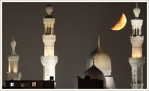Moon in Cairo (c) Reuters
