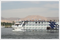 Cruise ship on the Nile at Luxor