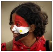 Protester in Cairo