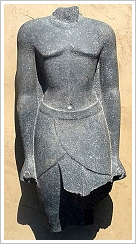 Pharaonic statue of Armant - cleaned