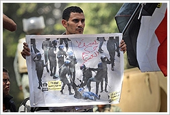 Jonathan Rashad, The Dragged Woman, Protest march to Defense Ministry, Cairo, April 27, 2012