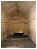 Pyramid of Khafre, Giza - Burial chamber with sarcophagus