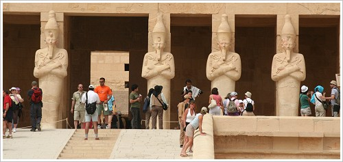 Tourists at Hatshepsut Temple, Luxor West Bank