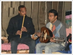 Hamada, oud player and Taha, nay player