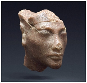Quarzite head of Nefertiti (c) dpa