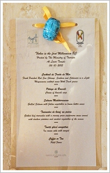 "Conference ""Thebes in the First Millenium BC"" - Menu of the dinner at Luxor Temple"