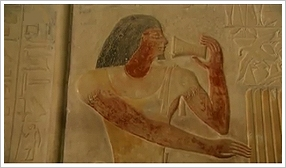 Relief in Ptahhotep's tomb in Saqqara