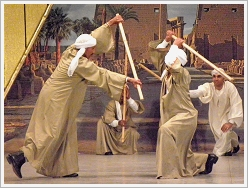 Qena Group for Folk Dance - Stick dancers