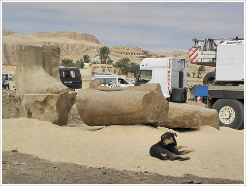 The salvage of two threatened Colossi of Amenhotep III at Kom el-Hettan, Luxor West Bank