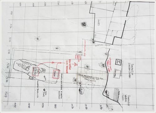 The salvage of two threatened Colossi of Amenhotep III at Kom el-Hettan, Luxor West Bank - Plan of Nairy Hampikian