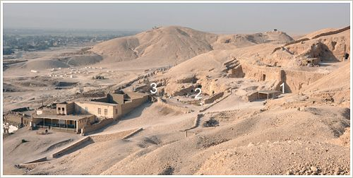 Excavation projects of the Belgian mission in Sheikh Abd el-Qurna, Luxor West Bank, (c) CReA-Patrimoine