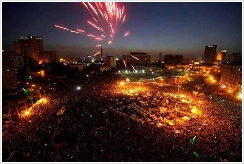 Celebrations on Tahrir Square, 3 July 2013, (c) unknown