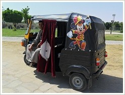 Tuk-Tuk at the ferry dock on Luxor's west bank