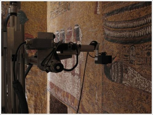 The Seti laser scanner was specially designed for the Egyptian SCA, (c) Factum Foundation
