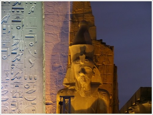 LAFF 2014: Statue of Ramses II in front of the Luxor Temple, Luxor East Bank