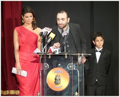 Opening ceremony of the 2nd Luxor Egyptian and European Film Festival on 19 January 2014 - Yosra El Lozy, Amr Salama and Ahmed Dash