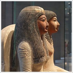 State Museum of Egyptian Art in Munich - Seated Figure of the Priest Neye and his Mother Mutnofret